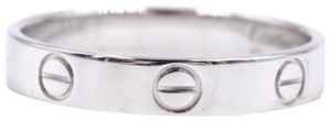 Cartier White gold Love band ring size 56 3.5mm wide Size 8