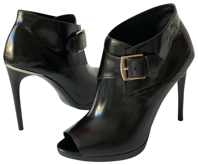 Burberry Black Holtsmere 110 Leather Peep Toe Ankle 39.5eur Boots/Booties Size EU 39.5 (Approx. US 9.5) Regular (M, B) Burberry Black Holtsmere 110 Leather Peep Toe Ankle 39.5eur Boots/Booties Size EU 39.5 (Approx. US 9.5) Regular (M, B) Image 1