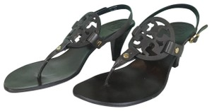 Tory Burch Leather Holly Brown Sandals