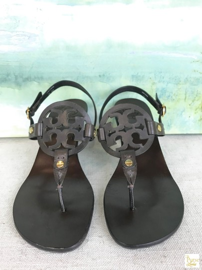 Tory Burch Leather Holly Brown Sandals Image 1