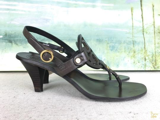 Tory Burch Leather Holly Brown Sandals Image 2