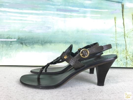 Tory Burch Leather Holly Brown Sandals Image 3