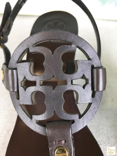 Tory Burch Leather Holly Brown Sandals Image 5