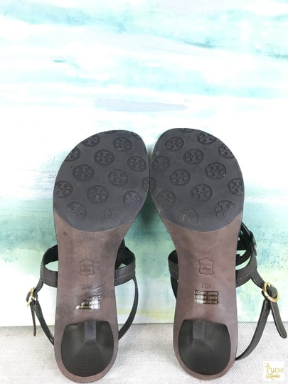 Tory Burch Leather Holly Brown Sandals Image 8