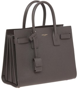 Saint Laurent Leather Sac De Jour Work Ysl Tote in Charcoal