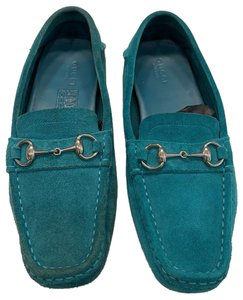 Gucci Turquoise Suede Flats