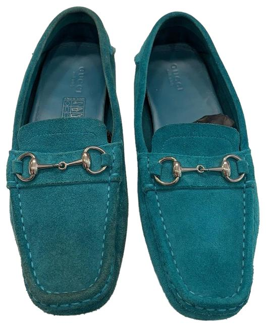 Item - Turquoise Suede Drivers. Flats Size US 6.5 Regular (M, B)
