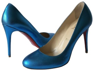 Christian Louboutin blue metallic Pumps