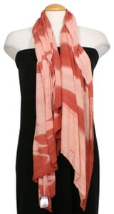 Eileen Fisher Peach Viscose Cashmere Ombre Angled Scarf