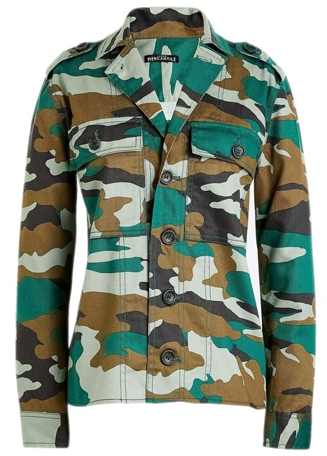 Item - Multicolor New Mercantile Women's Camouflage Utility Shirt J6260 Jacket Size 4 (S)