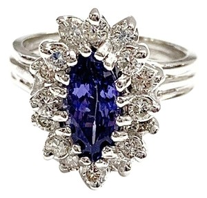LeVian GORGEOUS!!! LeVian 18 Karat White Gold, Tanzanite and Diamonds Ring