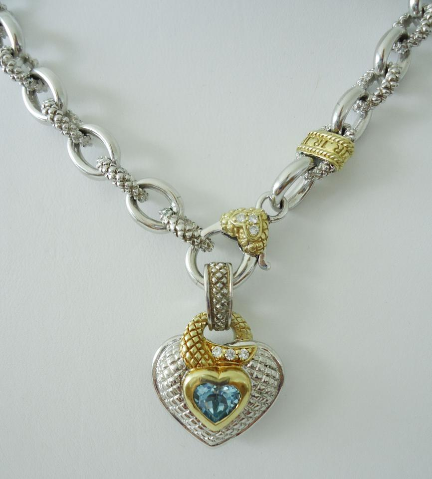 product necklace canary quartz twin sterling multi blue jewelry gallery la crystal ripka lyst judith pendant heart petite silver