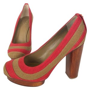 Tory Burch Red Platforms
