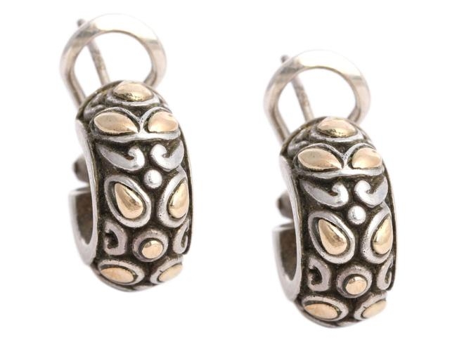 Item - Silver Sterling and 18k Yellow Gold Hoop Earrings