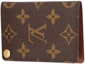Louis Vuitton Monogram Coated Canvas Business Card ID Holder Wallet
