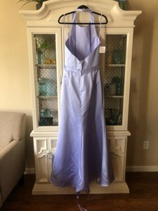 Allure Bridals Lilac Satin 1368 Formal Bridesmaid/Mob Dress Size 10 (M)