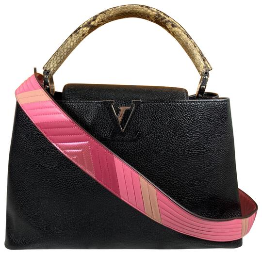 Preload https://img-static.tradesy.com/item/26004502/louis-vuitton-capucines-mm-taurillon-python-black-leather-satchel-0-4-540-540.jpg