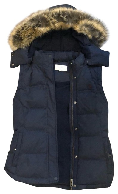 Item - Navy Down Feather Puffer Vest Size 4 (S)