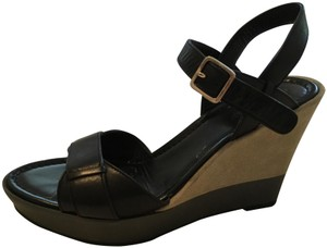 Cole Haan black and olive Wedges