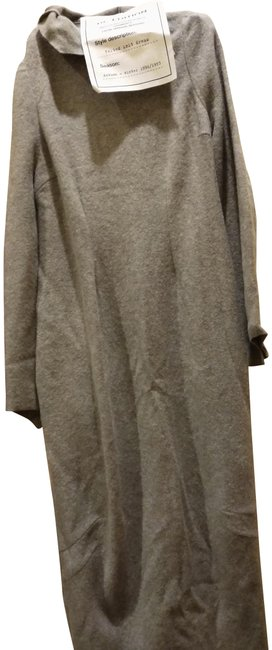 Item - Heather Grey Re-edition Felted Wool Long Casual Maxi Dress Size 10 (M)