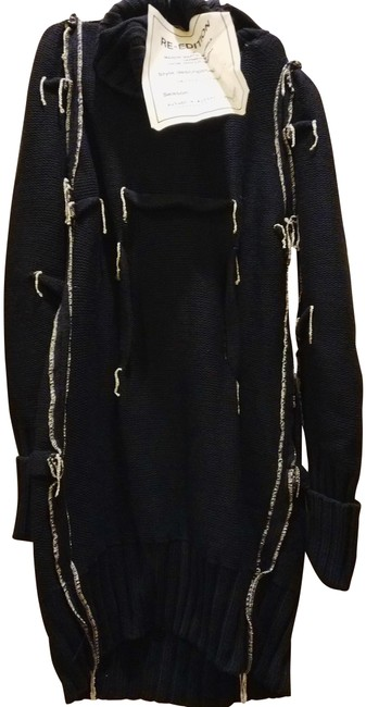 Item - Black White Silver Re-edition Knitted Sweater Mid-length Work/Office Dress Size 10 (M)