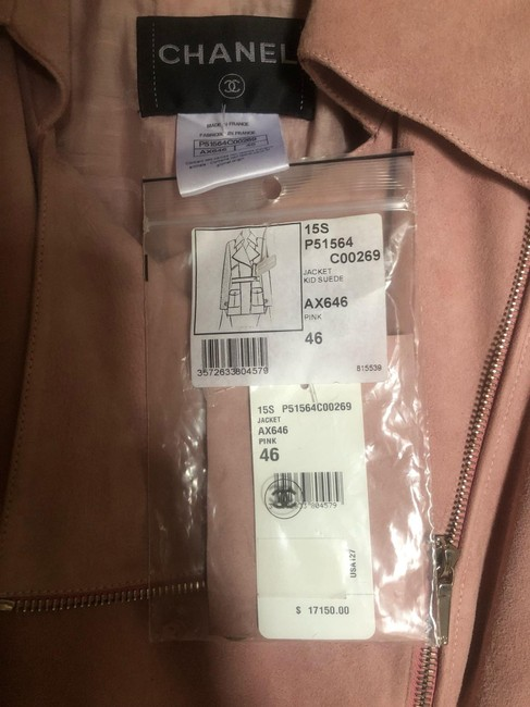 Item - Pink Kid Suede Ax646 15s Jacket Size 14 (L)