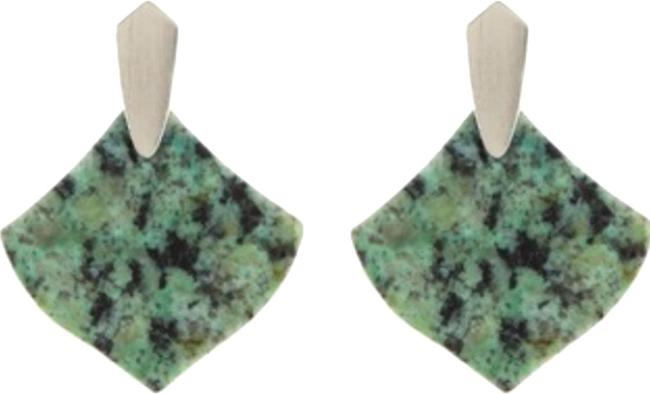 Kendra Scott African Turquoise/Green Astoria Earrings Kendra Scott African Turquoise/Green Astoria Earrings Image 1