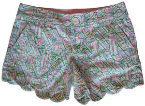 Lilly Pulitzer Guidling Light Scalloped Buttercup Mini/Short Shorts Pink