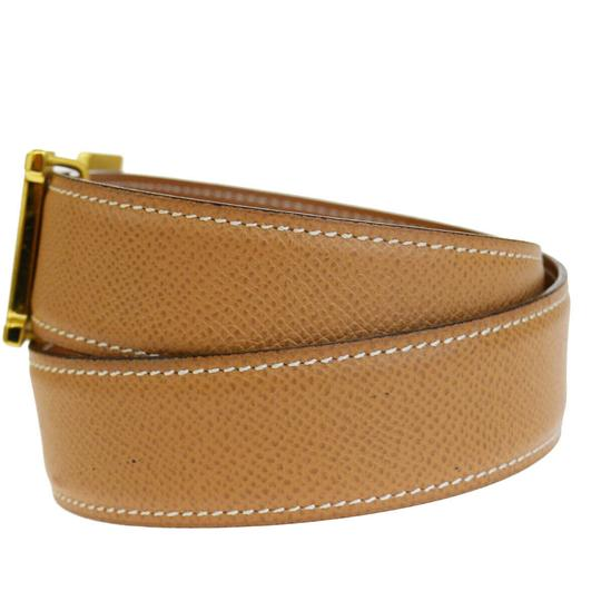 Hermès HERMES Constance Reversible H Buckle Belt Leather Gold Brown Image 1