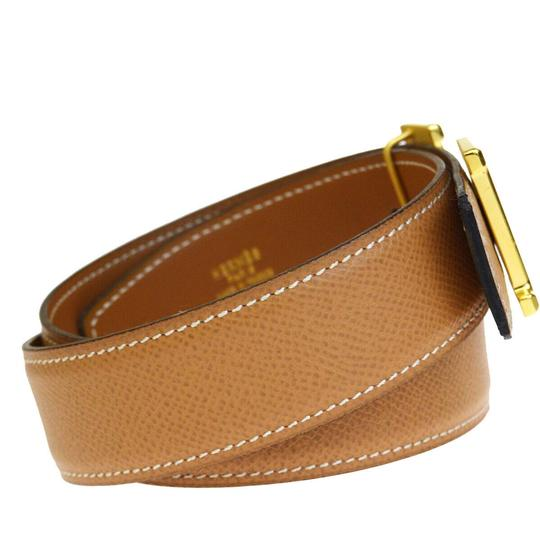 Hermès HERMES Constance Reversible H Buckle Belt Leather Gold Brown Image 3