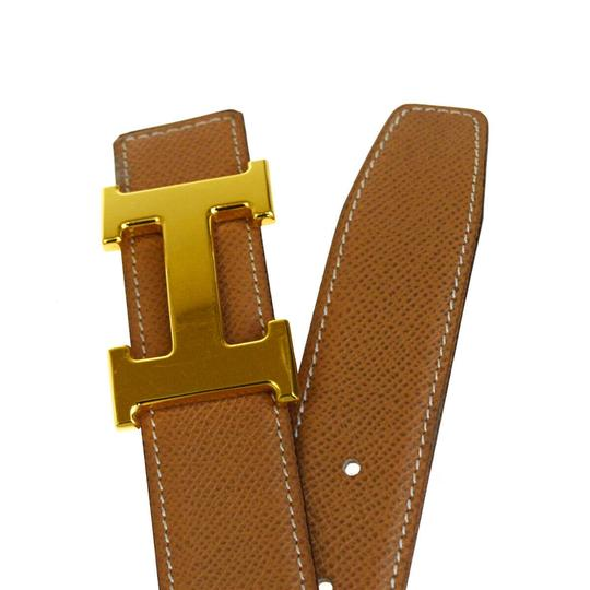 Hermès HERMES Constance Reversible H Buckle Belt Leather Gold Brown Image 4