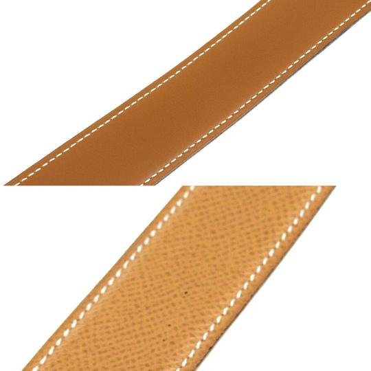 Hermès HERMES Constance Reversible H Buckle Belt Leather Gold Brown Image 8