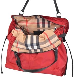 Burberry Purse Purse Handbag Tote in Military Red