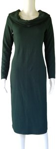 Splendid short dress Dark Green Jersey Cowl Neck Sheath on Tradesy