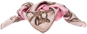 Cartier Cartier Pink Monogram Patterned Jacquard Silk Twill Square Scarf