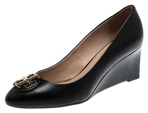 Tory Burch Leather Rubber Black Pumps
