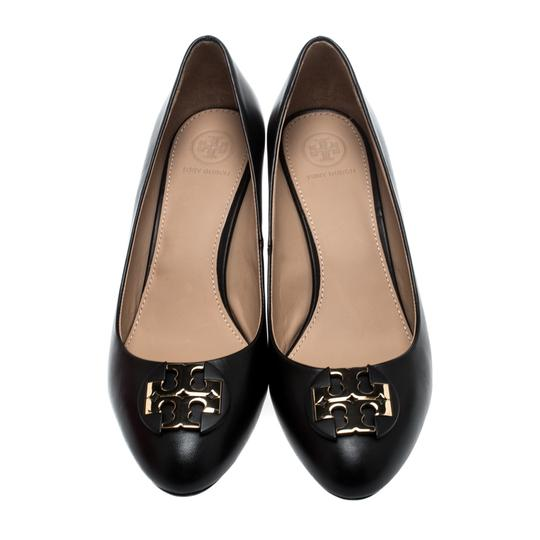 Tory Burch Leather Rubber Black Pumps Image 1