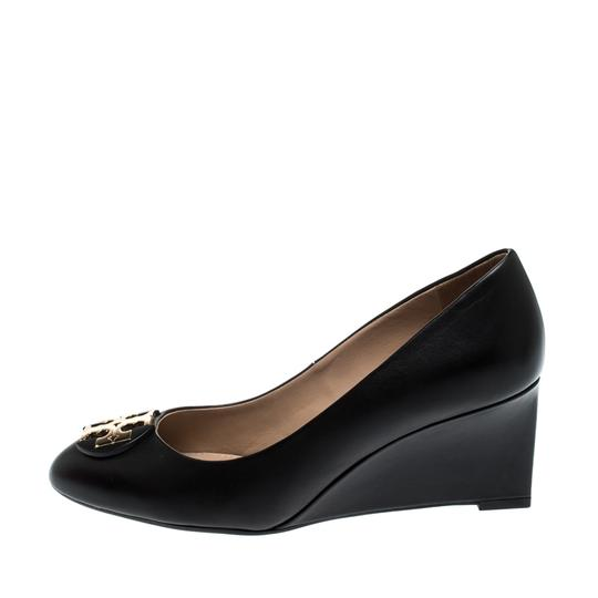 Tory Burch Leather Rubber Black Pumps Image 3