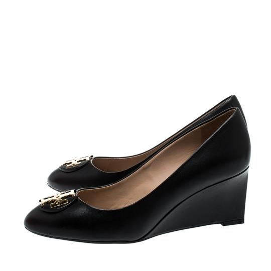 Tory Burch Leather Rubber Black Pumps Image 5