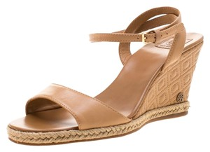 Tory Burch Leather Espadrille Brown Sandals