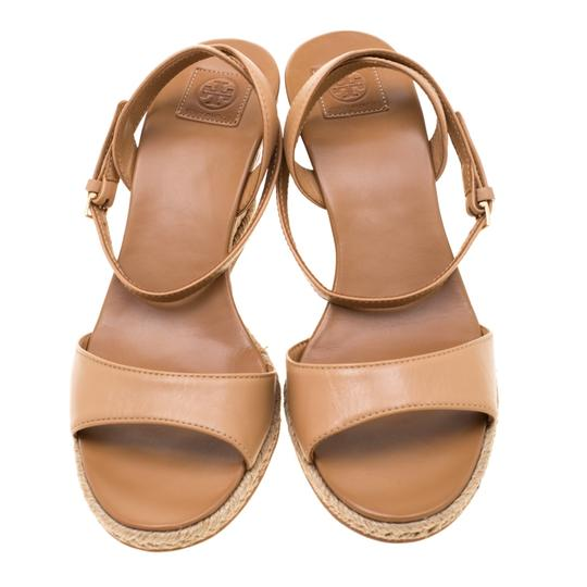 Tory Burch Leather Espadrille Brown Sandals Image 1