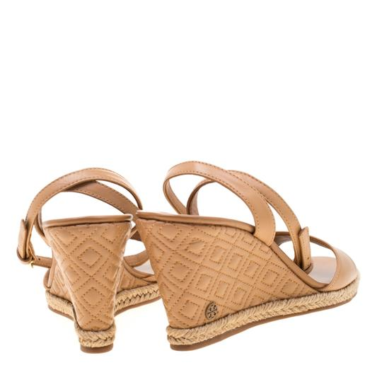 Tory Burch Leather Espadrille Brown Sandals Image 2