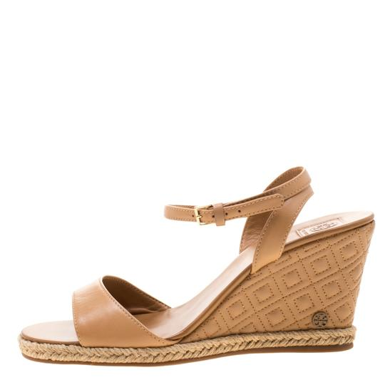 Tory Burch Leather Espadrille Brown Sandals Image 3
