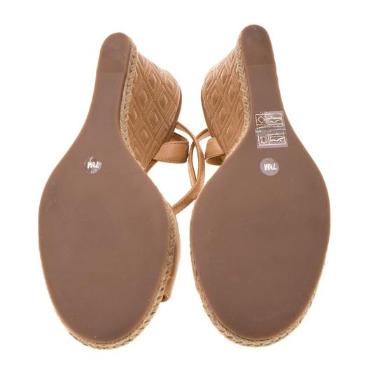 Tory Burch Leather Espadrille Brown Sandals Image 4