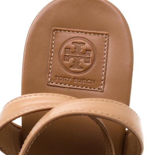 Tory Burch Leather Espadrille Brown Sandals Image 5