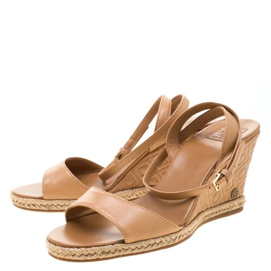 Tory Burch Leather Espadrille Brown Sandals Image 6