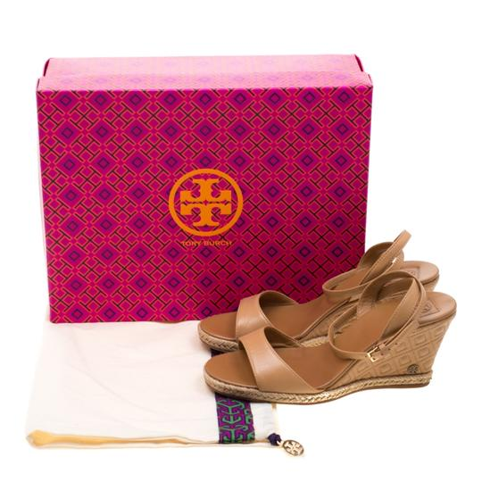 Tory Burch Leather Espadrille Brown Sandals Image 7
