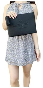 Kate Spade Womens Pouch Leather Black Messenger Bag