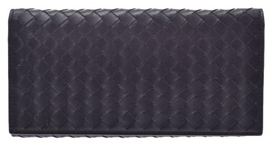 Bottega Veneta Bottega Veneta Folded Wallet Intrechart Black Men's Women's Leather BOTTEGA VENETA