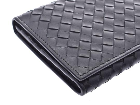 Bottega Veneta Bottega Veneta Folded Wallet Intrechart Black Men's Women's Leather BOTTEGA VENETA Image 3